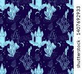 fairy tale seamless pattern...   Shutterstock .eps vector #1407692933
