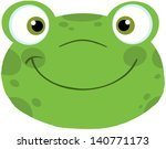 cute frog smiling head. vector... | Shutterstock .eps vector #140771173
