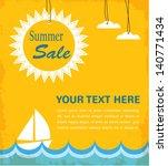 retro summer sale poster ... | Shutterstock .eps vector #140771434