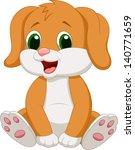Stock vector cute baby dog cartoon 140771659