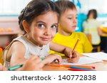 group of cute little preschol... | Shutterstock . vector #140772838