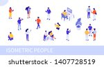 people at work concept design.... | Shutterstock . vector #1407728519