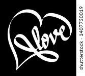 hand drawn white infinity heart ...   Shutterstock .eps vector #1407730019