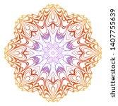 floral mandala ornament. vector ...   Shutterstock .eps vector #1407755639