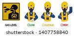 set of industrial worker with... | Shutterstock .eps vector #1407758840