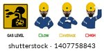 set of industrial worker with... | Shutterstock .eps vector #1407758843