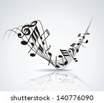 musical notes staff background...   Shutterstock .eps vector #140776090