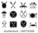 eating utensils icons | Shutterstock .eps vector #140776168