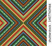 colored african geometrical... | Shutterstock .eps vector #1407763466