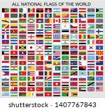 all official national flags of... | Shutterstock .eps vector #1407767843