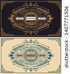 whiskey label for packing.... | Shutterstock .eps vector #1407771506
