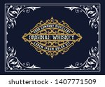 vinatage design for logo  label ...   Shutterstock .eps vector #1407771509