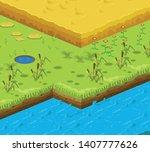 soil layers vector isometric...