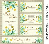 wedding invitation template in... | Shutterstock .eps vector #140778238