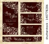 wedding invitation template in... | Shutterstock .eps vector #140778286