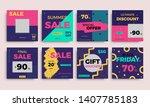 modern promotion square web...   Shutterstock .eps vector #1407785183