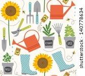 Gardening Seamless Pattern