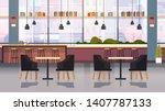 modern cafe interior empty no... | Shutterstock .eps vector #1407787133