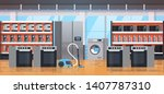 different home appliances... | Shutterstock .eps vector #1407787310