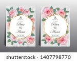 floral card for invitation... | Shutterstock .eps vector #1407798770