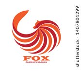 abstract fox logo design. eps 10   Shutterstock .eps vector #1407801299