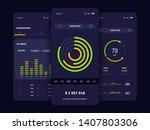 mobile app user interface...   Shutterstock .eps vector #1407803306