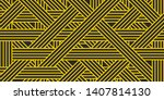 modern  black and yellow... | Shutterstock .eps vector #1407814130