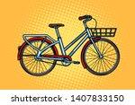 city bike  green transport ... | Shutterstock .eps vector #1407833150