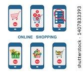 set of various options of... | Shutterstock .eps vector #1407833393