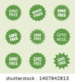 gmo free icon set  natural food ... | Shutterstock .eps vector #1407842813