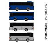 tour bus right and left side... | Shutterstock .eps vector #1407866249