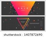 memphis style creative banner... | Shutterstock .eps vector #1407872690