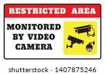 restricted area video camera... | Shutterstock .eps vector #1407875246