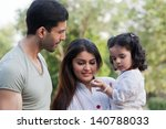 family of three in outdoor ... | Shutterstock . vector #140788033