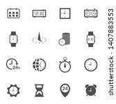 time clock flat icon set for...