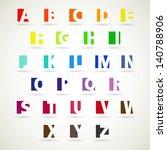 upper case alphabet set  modern ... | Shutterstock .eps vector #140788906