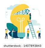 vector illustration of a group... | Shutterstock .eps vector #1407893843