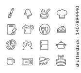 set of outline icons for... | Shutterstock .eps vector #1407894440