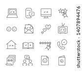 set of feedback  satisfaction... | Shutterstock .eps vector #1407894476