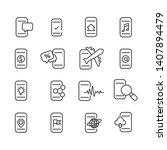 set of  smartphone function... | Shutterstock .eps vector #1407894479