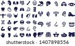 organ silhouette icons vector... | Shutterstock .eps vector #1407898556