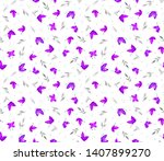 seamless hand painting abstract ... | Shutterstock . vector #1407899270