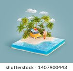 unusual 3d illustration of a... | Shutterstock . vector #1407900443