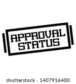 approval status stamp on white | Shutterstock . vector #1407916400
