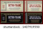 template advertisements  flyer  ...   Shutterstock .eps vector #1407919550