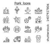 park icon set in thin line style | Shutterstock .eps vector #1407927806