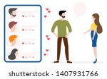 vector illustration with online ... | Shutterstock .eps vector #1407931766