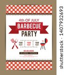 barbecue party vector flyer or...   Shutterstock .eps vector #1407932693