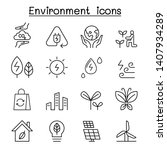 environment   ecology icon set... | Shutterstock .eps vector #1407934289