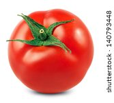 Fresh Red Tomato Isolated On...